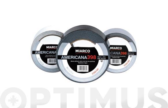 Cinta americana 398 plata 30 m x 50 mm