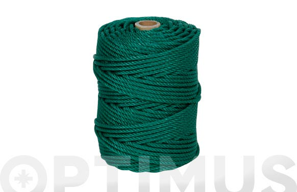 Cuerda polietileno cableada 4 cabos ø 6 mm 100 mt verde
