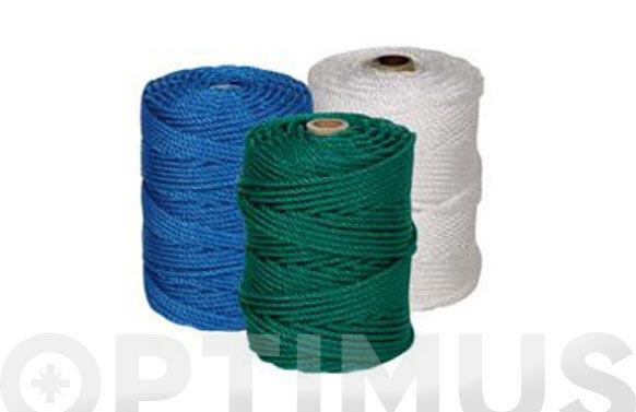 Cuerda polietileno cableada 4 cabos ø 5 mm 25 mt blanco