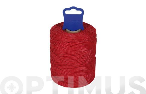 Hilo replanteo polipropileno trenzado ø 1,8 mm 50 mt rojo