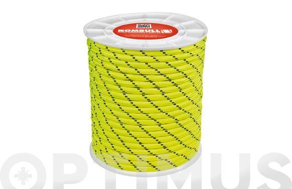 Cuerda poliester trenzado con alma ø 8 mm 25 mt amarillo fluorescente