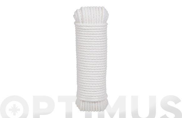 Cordon polietileno riel stor con alma ø 3mm 15 mt blanco
