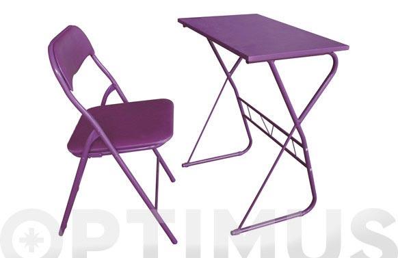 Mesa + silla (set escolar) morado