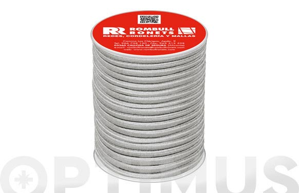 Cuerda elastica poliester/latex ø 6 mm 50 mt blanco