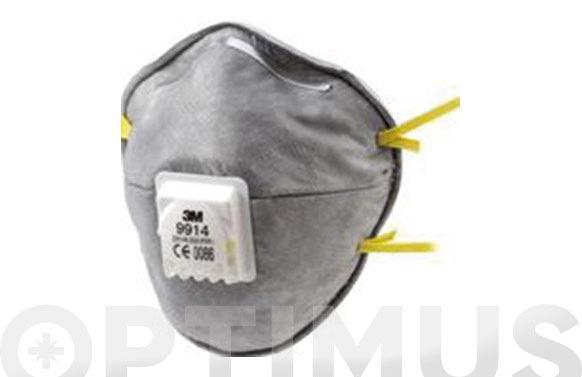 Mascarilla proteccion ffp1 con valvula 9914 vapores organicos moldeada nr