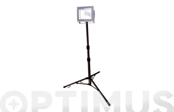 Foco proyector led 50 w con tripode 4000 lumens luz fria ip65