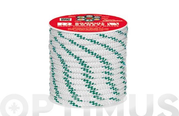 Cuerda polipropileno trenzada con alma ø 6 mm 25 mt blanco
