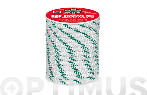 Cuerda polipropileno trenzada con alma ø 6 mm 50 mt blanco