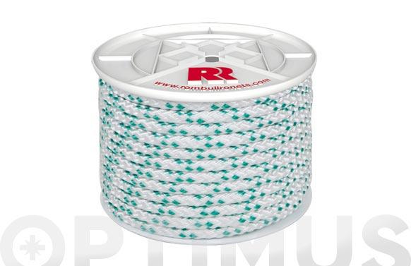 Cuerda polipropileno trenzada con alma ø 8 mm 100 mt blanco