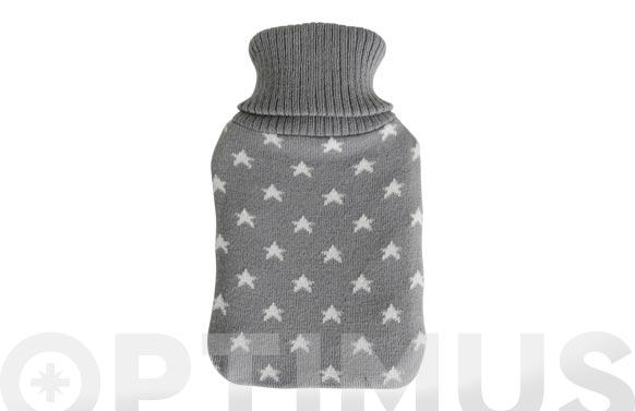 Bolsa agua caliente forro lana 1 l estrellas gris
