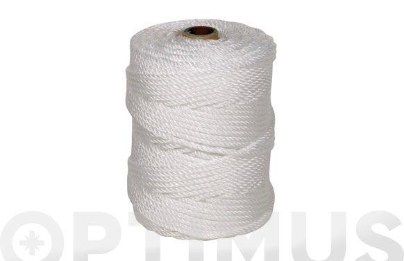 Cuerda polietileno cableada 4 cabos ø 6 mm 100 mt blanco