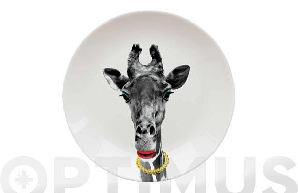 Plato llano decorado ø 25 jirafa