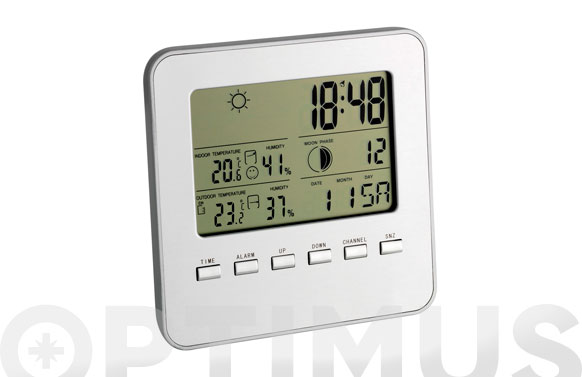 Estacion meteorologica digital 35.1098-plata