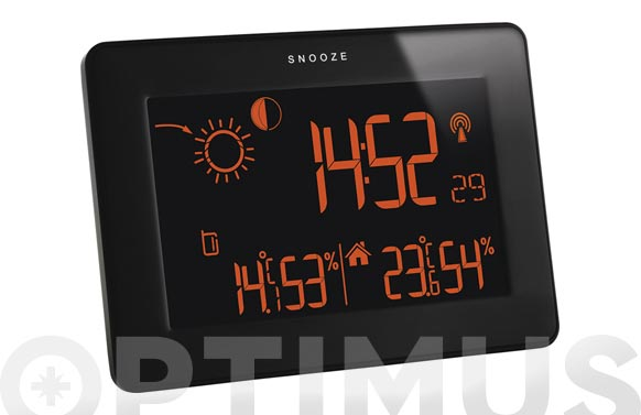 Estacion meteorologica digital negra