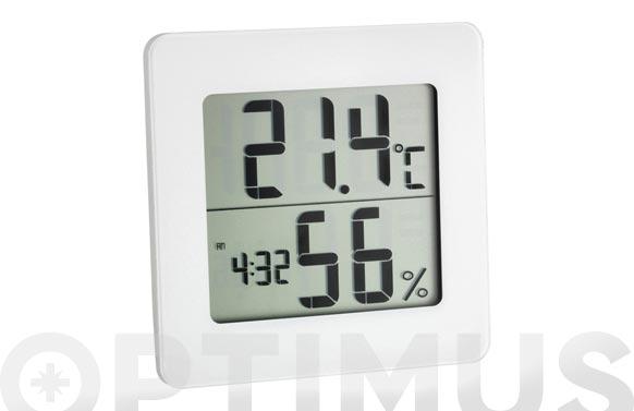 Termo-higrometro reloj digital blanco