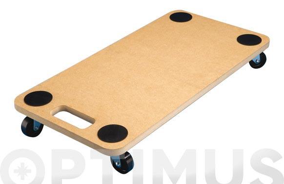 Base rodante rectangular 30x60 cm hasta 120kg