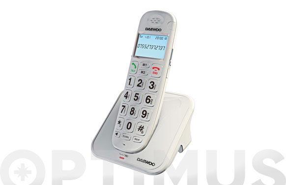 Telefono dect teclas grandes negro