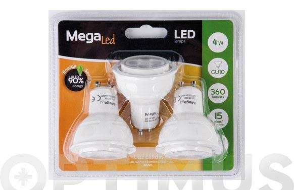 Lampara led dicroica 360lm (3uni) 4w gu10 luz calida (3000k)
