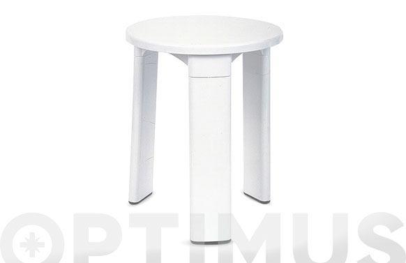 Taburete baño plastico blanco ø 31,5 x 39