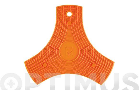 Protector-salavamantel silicona safe naranja
