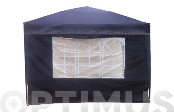 Cortina con ventana carpa plegable 9675205 azul