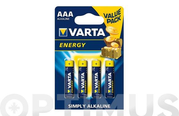 Pila alcalina energy lr03 aaa bl.4