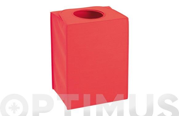 Bolsa colada rectangular roja