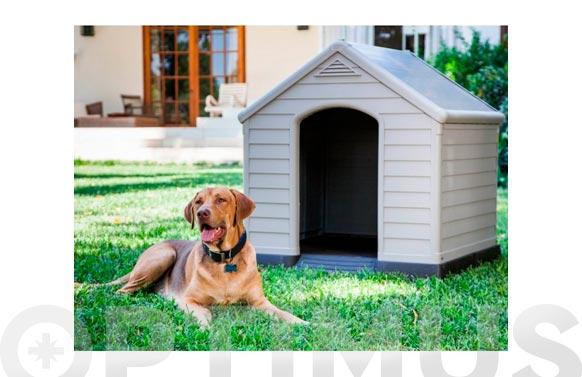 Caseta resina para perro grande 99 x 95 x 99 cm