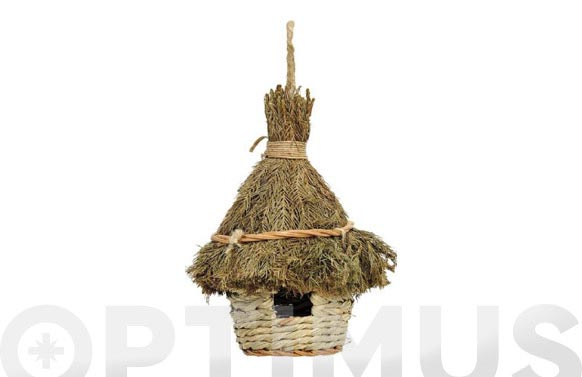 Caseta pajaros natural campana ø 15 x 25 cm
