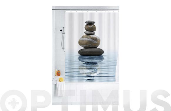 Cortina baño poliester meditacion 1.80 x 2.00 m
