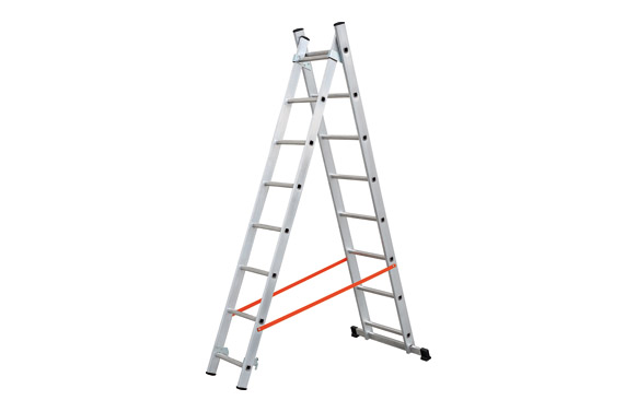 Escalera aluminio profesional doble combinada 2x7 peldaños