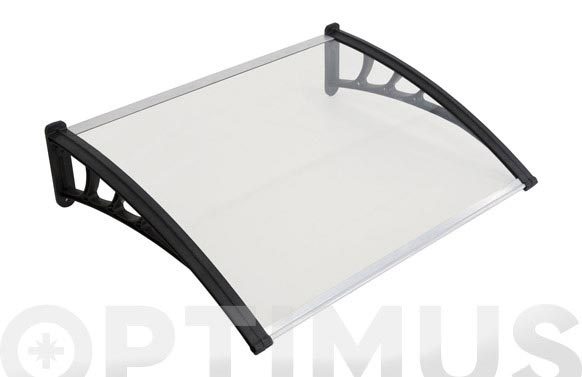 Marquesina puerta easy plastico+pc 150x80 cm gris