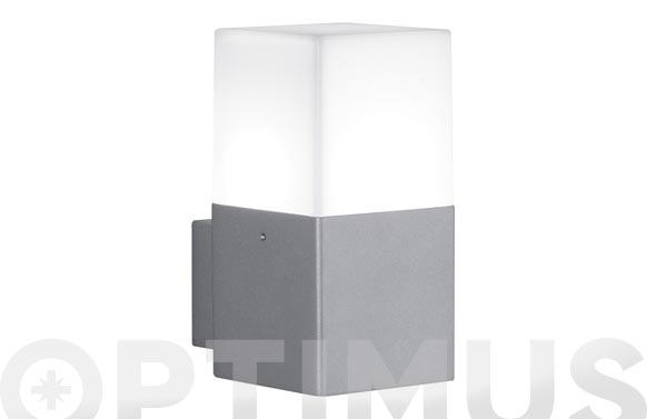 Aplique exterior led 4w hudson gris aluminio