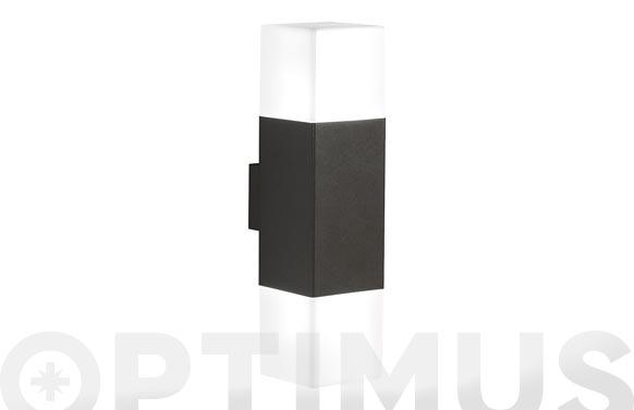 Aplique exterior led 2x4w hudson gris marengo