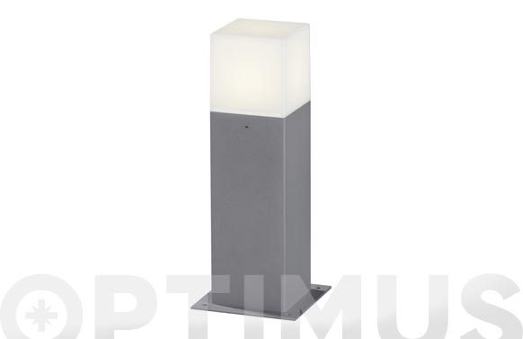 Baliza sobremuro 30cm led 4w hudson gris aluminio