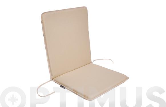 Cojin silla + respaldo dralon crudo liso 2 uds 92 x 45 x 3.5 cm