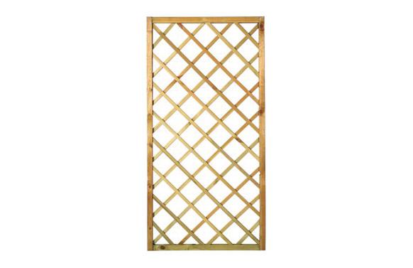 Celosia madera soprano c/marco (agujero 12,5x12,5) 90x180 cm