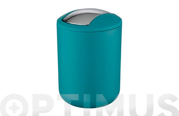 Cubo con tapa abatible brasil petrol 2 l