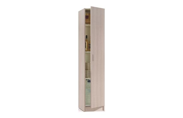 Armario multiuso estantes 1 puerta roble 180 x 37 x 37 cm