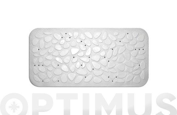 Alfombra baño piedras antideslizante 36 x 75 cm blanca