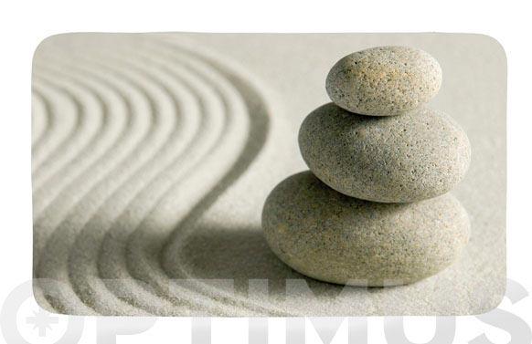 Alfombra baño poliester piedras y arena 40 x 75 cm