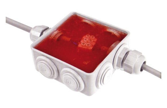Connexion antihumedad con gel aislante 80x80x36mm