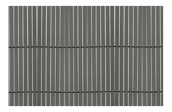 Cañizo sintetico caña fina y entera gris 1,5 x 5 m