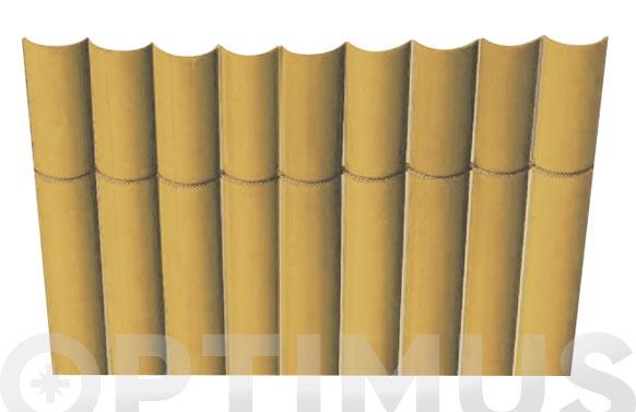 Cañizo sintetico pvc media caña plasticane bambu 1,5 x 3 m