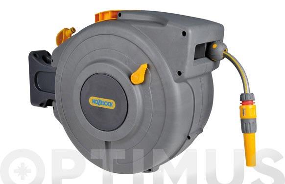 Enrollador manguera pared autoreel incluida 20 mt +accesorios gris