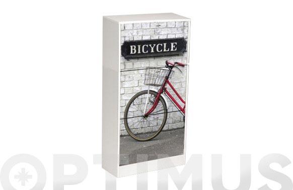 Zapatero decorado bicicleta 117 x 60 x 24 cm
