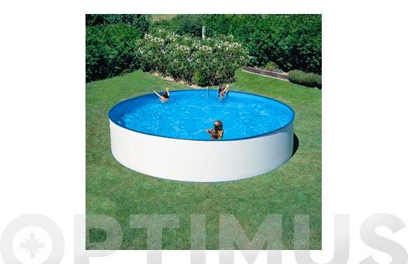 Piscina acero redonda filtro cartucho 2m3 ø300x90 cm blanca