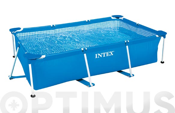 Piscina desmontable rectangular tubular 450 x 220 x 84 cm