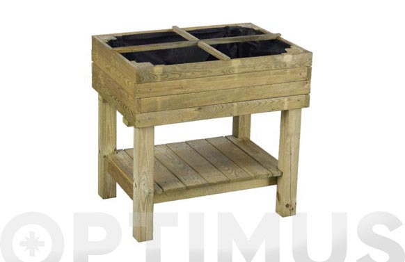Mesa cultivo madera regulable martina 98 l 80 x 60 x 80-92 cm