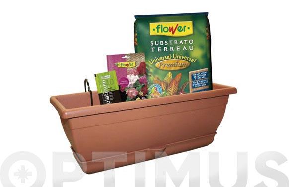 Pack jardinera + lote geranios
